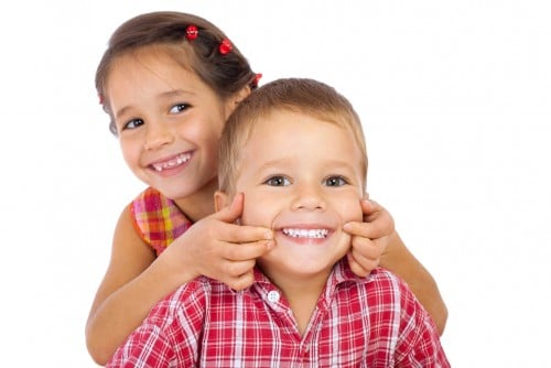 Kids smiling at Ashburton Family Dental