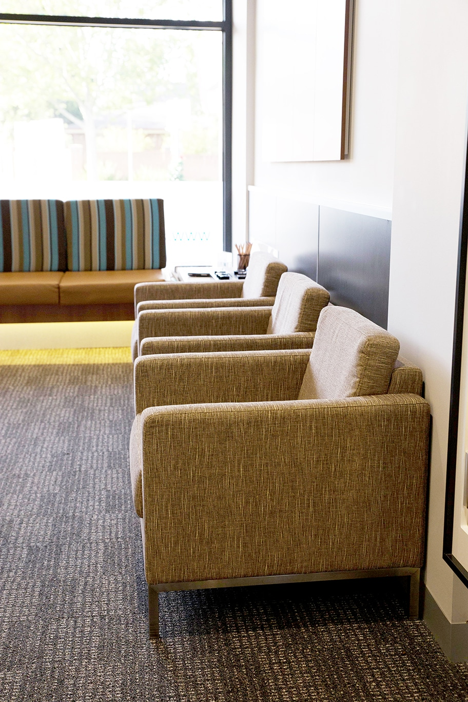 Reception armchairs