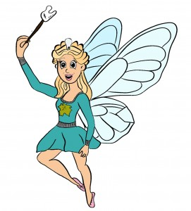 Ashy tooth fairy coloured in